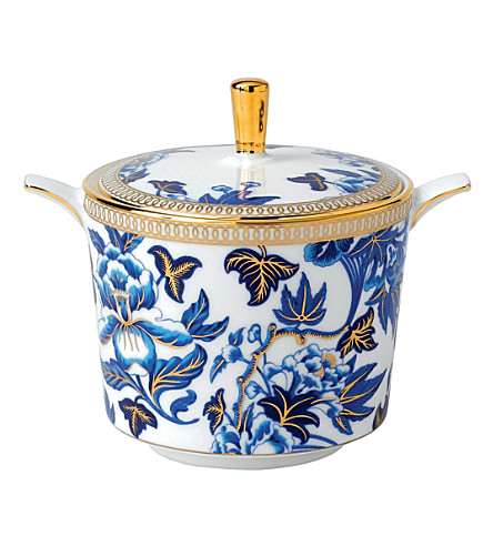 WEDGWOOD Hibiscus covered sugar box
