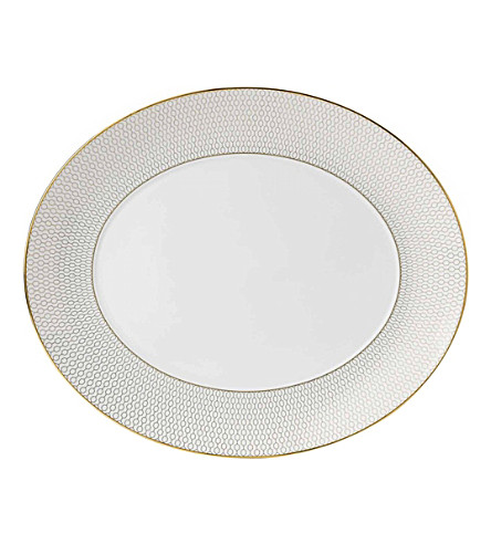 WEDGWOOD Arris oval serving platter