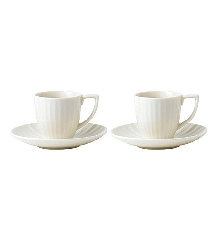 JASPER CONRAN @ WEDGWOOD Tisbury espresso cup and saucer pair