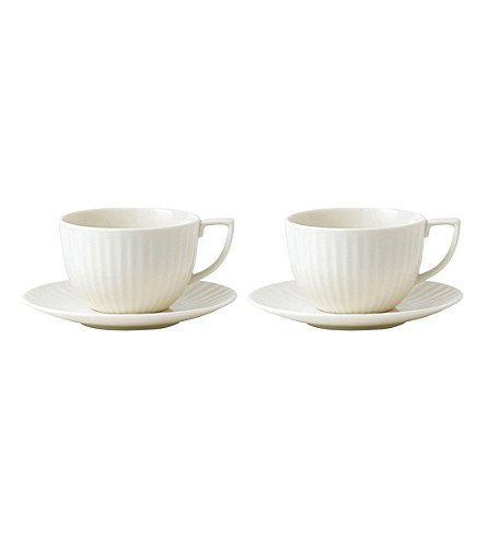 JASPER CONRAN @ WEDGWOOD Tisbury teacup and saucer pair