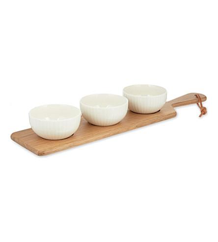JASPER CONRAN @ WEDGWOOD Jasper Conran Tisbury wooden serving platter 55cm