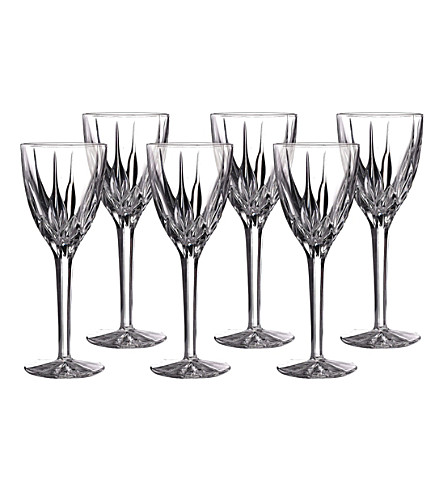 ROYAL DOULTON Flame wine glasses set of six
