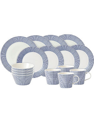 WEDGWOOD Pacific dot 16-piece dining set