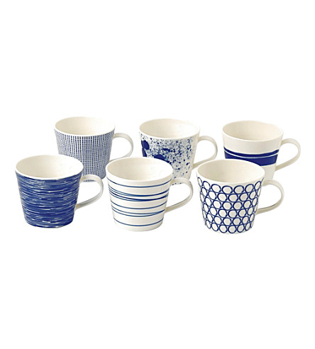ROYAL DOULTON Pacific patterned mug set