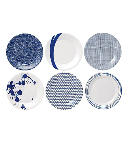 ROYAL DOULTON Pacific patterned dinner plate set