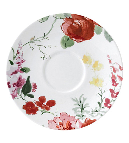 JASPER CONRAN @ WEDGWOOD Floral bone china saucer