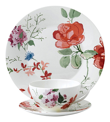 JASPER CONRAN @ WEDGWOOD Floral bone china 3-piece set