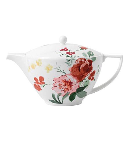JASPER CONRAN @ WEDGWOOD Floral bone china teapot 1.2L