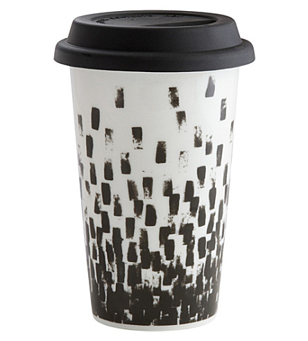 VERA WANG @ WEDGWOOD Check ceramic travel mug