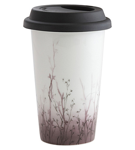 VERA WANG @ WEDGWOOD Blossom ceramic travel mug