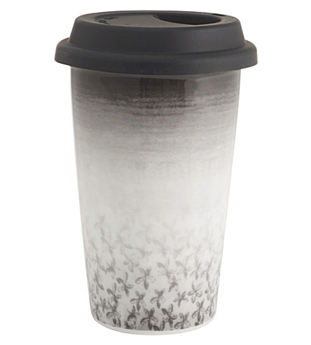 VERA WANG @ WEDGWOOD Petal ceramic travel mug