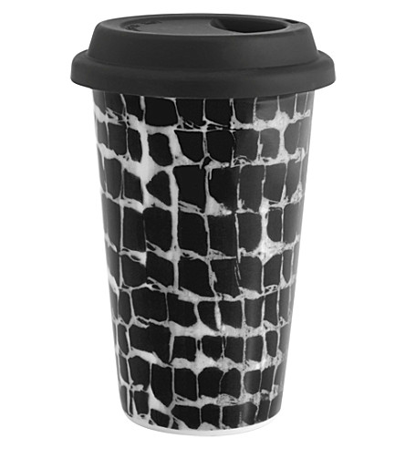 VERA WANG @ WEDGWOOD Leopard ceramic travel mug