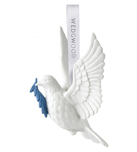 WEDGWOOD Figural dove christmas tree decoration