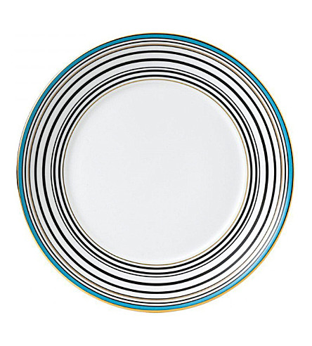 WEDGWOOD Vibrance striped china plate 17cm