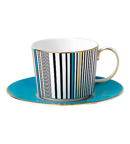 WEDGWOOD Vibrance china teacup and saucer