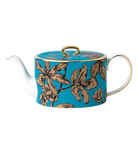 WEDGWOOD 自然饱和度花卉中腰国茶壶