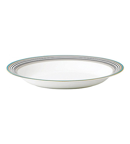 WEDGWOOD Vibrance striped oval serving bowl 34cm