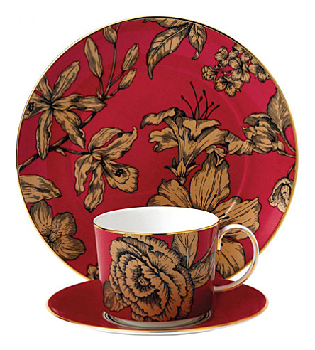 WEDGWOOD Vibrance 3-piece floral china set