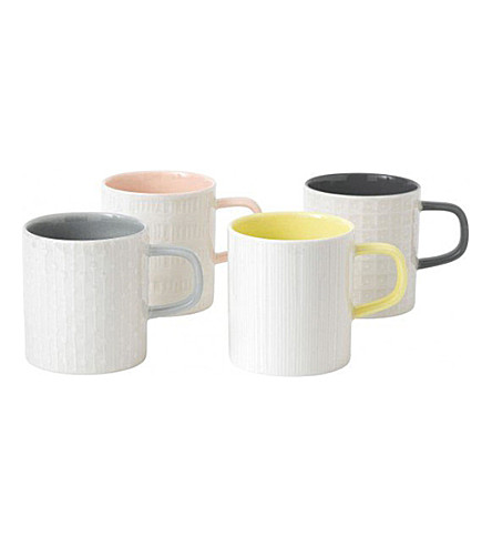 ROYAL DOULTON HemingwayDesign porcelain mugs set of four