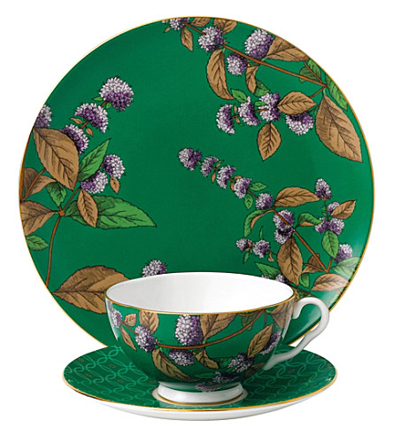 WEDGWOOD Green tea and mint tea garden 3-piece china set