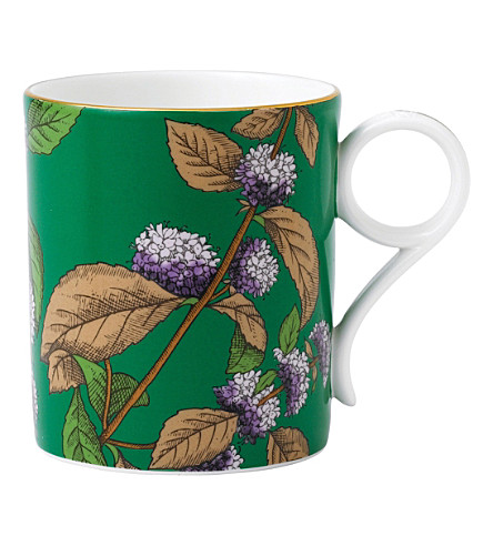 WEDGWOOD Green tea & mint tea garden china mug