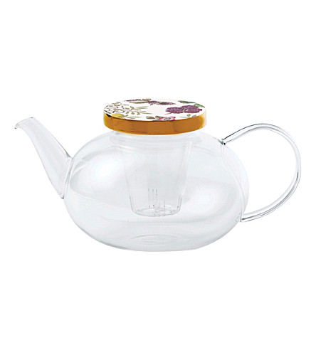 WEDGWOOD Tea garden glass teapot