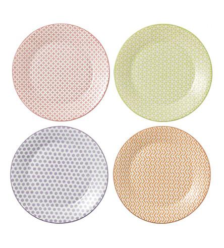 ROYAL DOULTON 设置的 4 图案的瓷盘