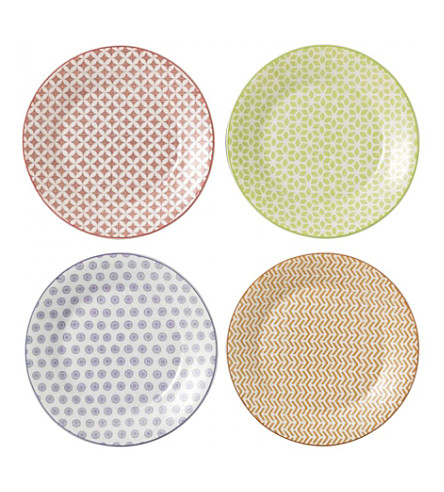 ROYAL DOULTON Pastels Accent set of four plates 16cm