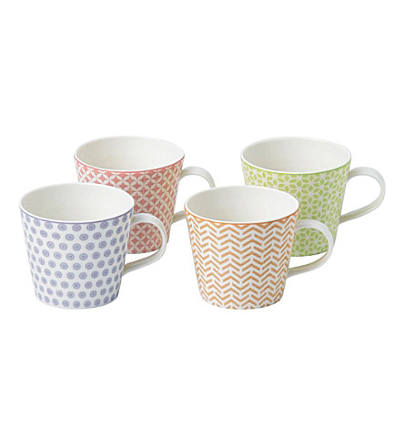 ROYAL DOULTON Pastel Accent set of four mugs