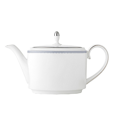 VERA WANG @ WEDGWOOD Border-trim China teapot