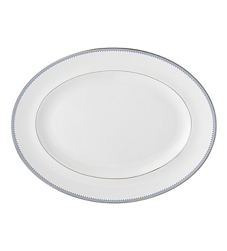 VERA WANG @ WEDGWOOD Border-trim China oval platter