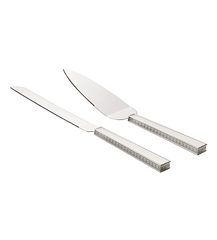 VERA WANG @ WEDGWOOD With love nouveau pearl cake knife and server set