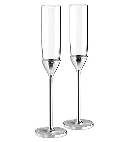 VERA WANG @ WEDGWOOD With Love Nouveau toasting flute set of 2
