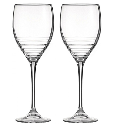 VERA WANG @ WEDGWOOD Grosgrain nouveau set of two goblets