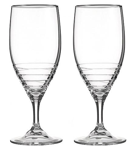 VERA WANG @ WEDGWOOD Grosgrain nouveau set of two glasses