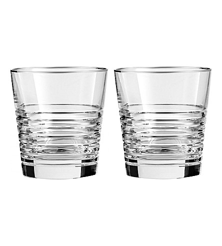 VERA WANG @ WEDGWOOD Grosgrain nouveau set of two double old fashioned glasses