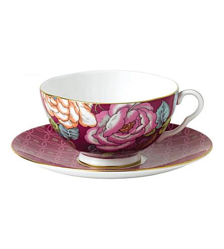 WEDGWOOD 树莓茶叶花园茶杯和飞碟套装