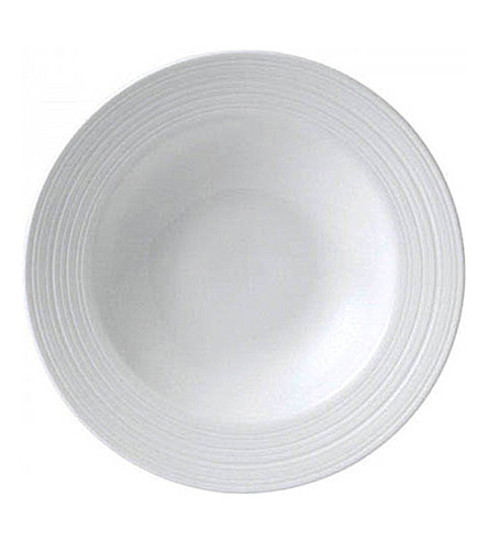 JASPER CONRAN @ WEDGWOOD Strata bone china pasta/soup bowl 26cm