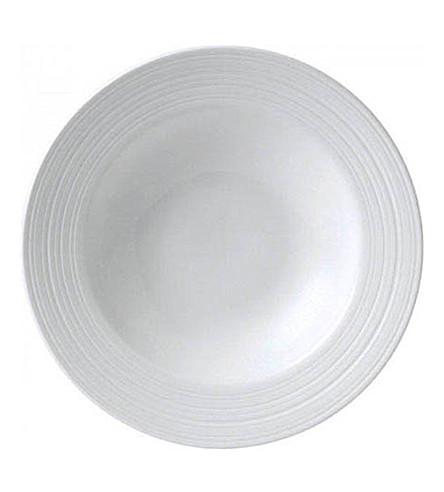 JASPER CONRAN @ WEDGWOOD Strata bone china pasta/soup bowl 26cm