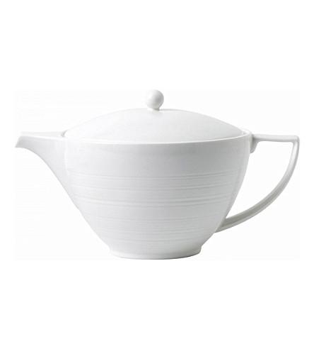 JASPER CONRAN @ WEDGWOOD Strata bone china teapot 1.2L