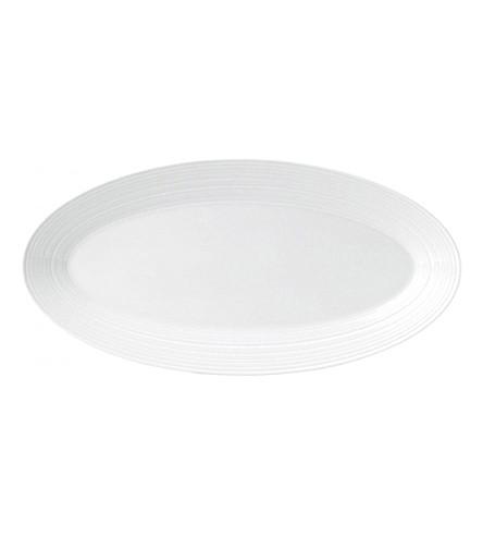 JASPER CONRAN @ WEDGWOOD Strata bone china oval serving platter 35cm