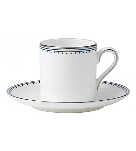 VERA WANG @ WEDGWOOD Border-trim China espresso saucer