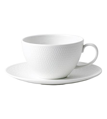 VERA WANG @ WEDGWOOD Gio fine bone china tea cup and saucer