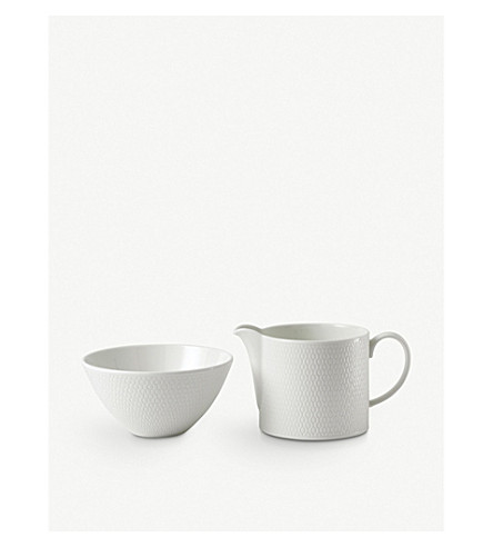 VERA WANG @ WEDGWOOD Gio fine bone china sugar bowl and cream jug