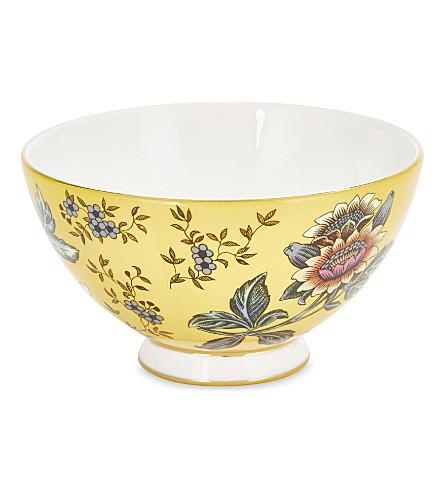 WEDGWOOD Wonderlust Yellow Tonquin China gift bowl