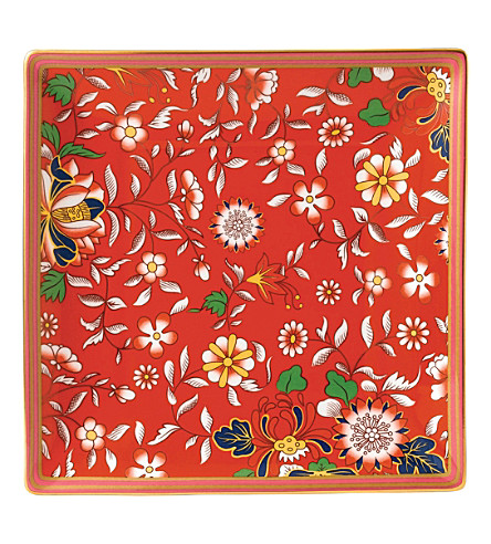 WEDGWOOD Wonderlust Collection Crimson Jewel tray