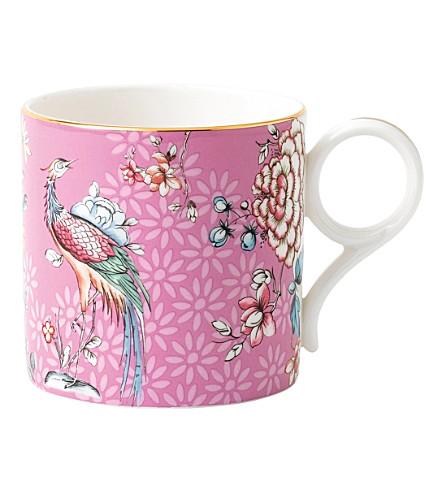 WEDGWOOD Crane-print china mug