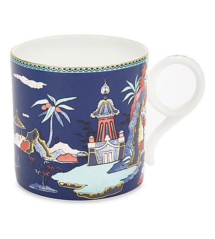 WEDGWOOD Wonderlust Blue Pagoda China mug