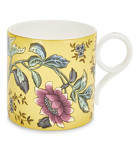 WEDGWOOD Wonderlust Yellow Tonquin China mug