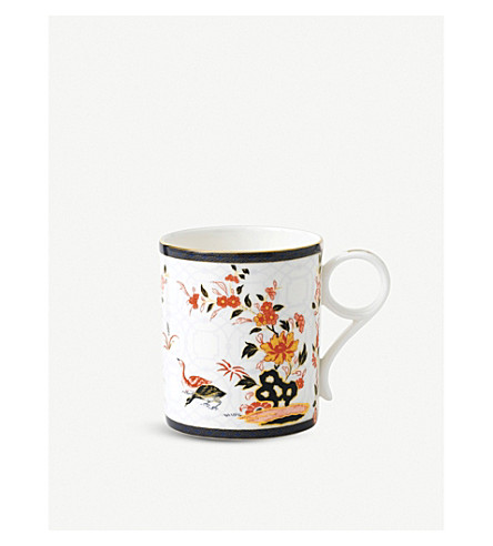 WEDGWOOD Oriental peony-print china mug